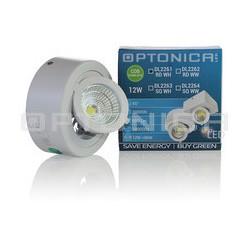 12W LED COB DOWNLIGHT apvalus šviestuvas, Ø118*50 mm, Reguliuojamas, Šilta balta šviesa