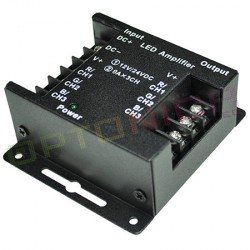 Stiprintuvas RGB LED juostoms, aliuminio korpusas, 72*80*33 mm, 288 W, 12 - 24 V
