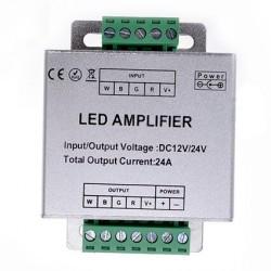 Stiprintuvas  RGB-WH LED juostoms, 177*65*25 mm, 288W, 12/24 V, 24 A