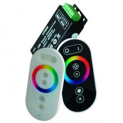 Mini distancinis pultas RGB LED juostoms, 288 W, 24 A, sensorinis juodas korpusas
