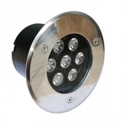 7 W  /  220 V   LED, Lauko, Įmontuojamas, Ø148*90 mm, Balta šviesa, IP65