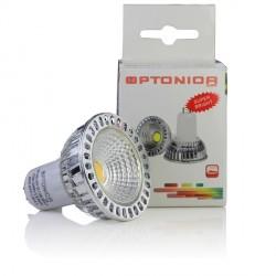 Įstatoma LED lemputė MR16, Ø50*53 mm,  6W / 12V,  СОВ, 50°, Šiltai balta šviesa