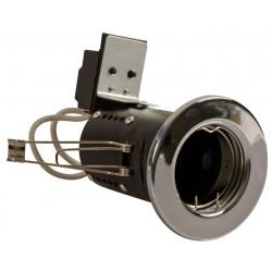 Priešgaisrinis fiksuojamas korpusas, LED įleidžiamam GU10, IP20, Nuolydis GU10, Chromuotas