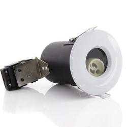 Priešgaisrinis fiksuojamas korpusas, LED įleidžiamam, GU10, IP65, Baltas