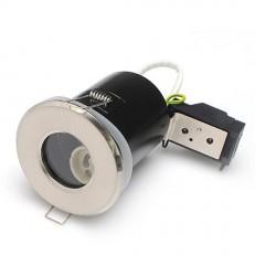 Priešgaisrinis fiksuojamas korpusas, LED įleidžiamas GU10, IP65, Atlasinis chromas