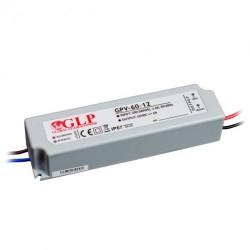 60W, LED maitinimo šaltinis, GPV-60-12, 12V, 5A,162*42*33 mm, IP67, GLP atsparus drėgmei