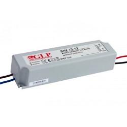 75W, LED maitinimo šaltinis, GPV-75-12, 12V, 6A,162*42*33 mm, IP67, GLP atsparus drėgmei