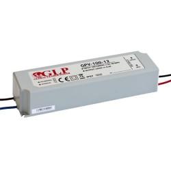 100W, LED maitinimo šaltinis, GPV-100-12, 12V, 8.3A,190*53*37 mm, IP67, GLP atsparus drėgmei