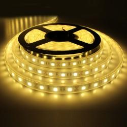 6m ritė, 2835, LED juosta RFX816Y-A, 3W / m, 30 SMD / m, 12V, Atspari drėgmei, Geltona šviesa