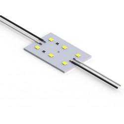 1.44W nekorpusuotas  RA814X*  LED modulis, 12V, PLCC 2835, Šilta balta šviesa (3000K)