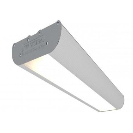 Aukštų patalpų LED šviestuvas ITW SYSTEMS ADMIN, 58W, 571x164x47mm, atsparus smūgiams, 7000lm, 6500K.